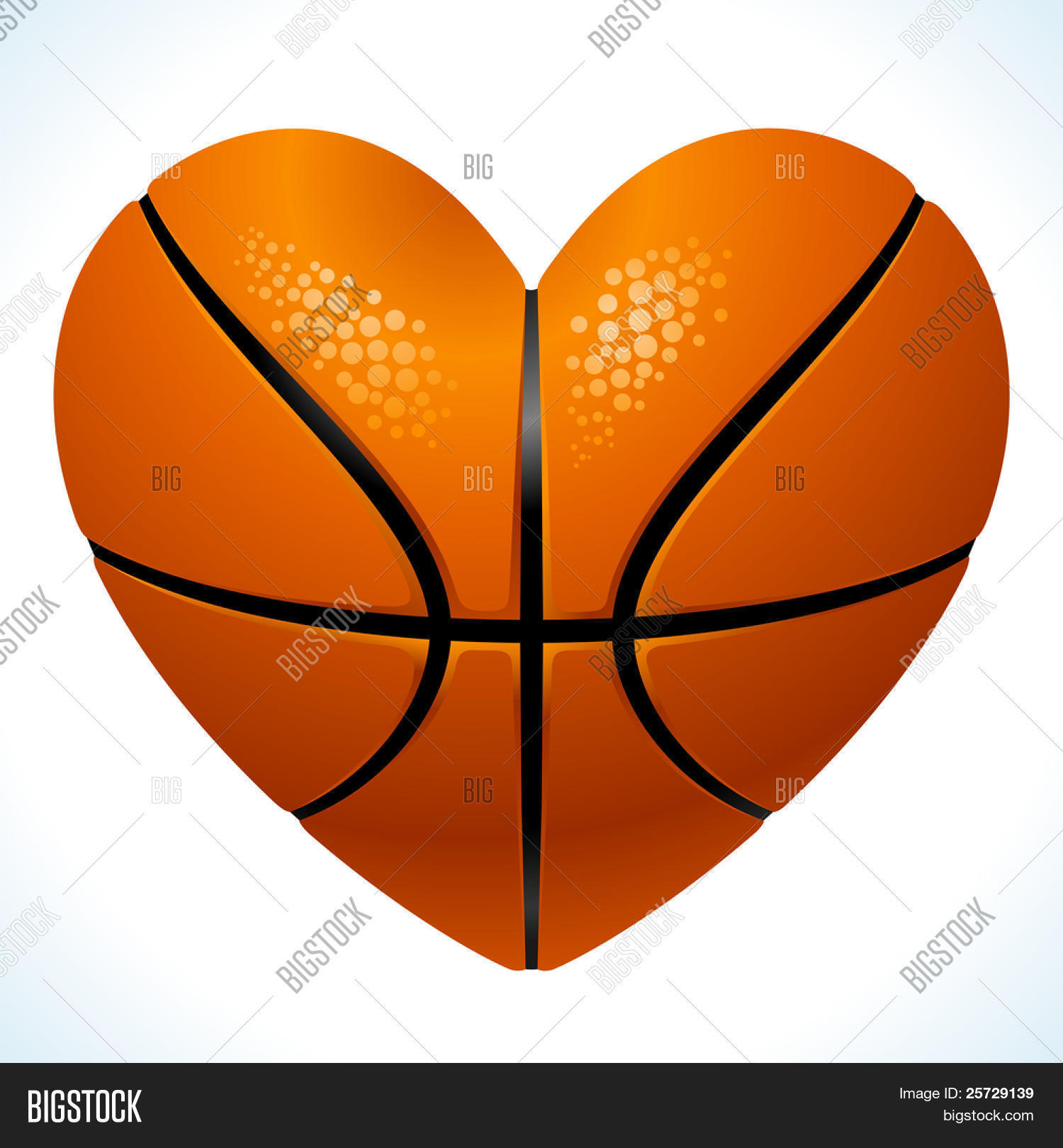 Ball basketball shape heart vector photo bigstock ball for basketball in the shape of heart biocorpaavc Choice Image
