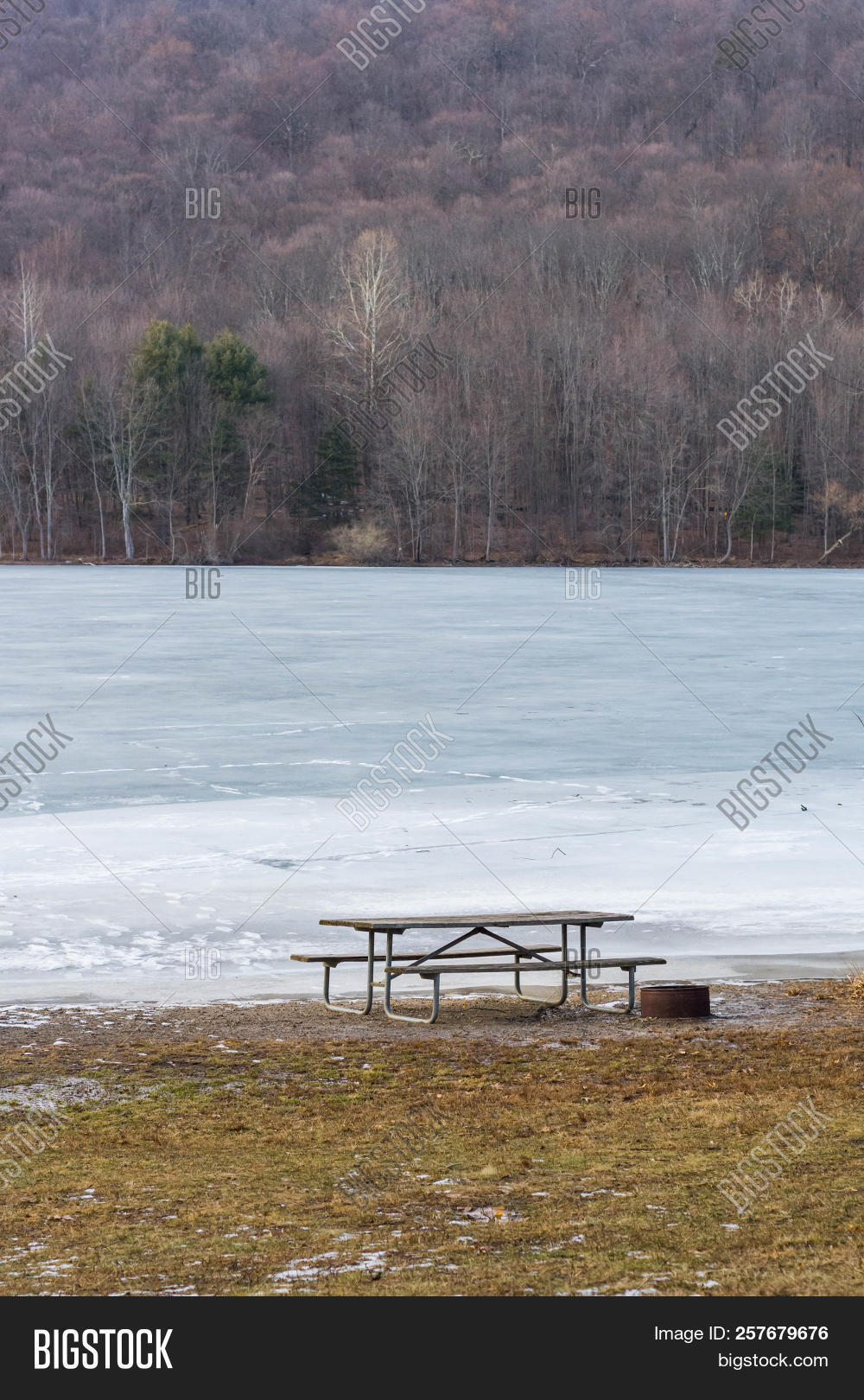 Picnic Table Fire Pit Image Photo Free Trial Bigstock - Fire picnic table