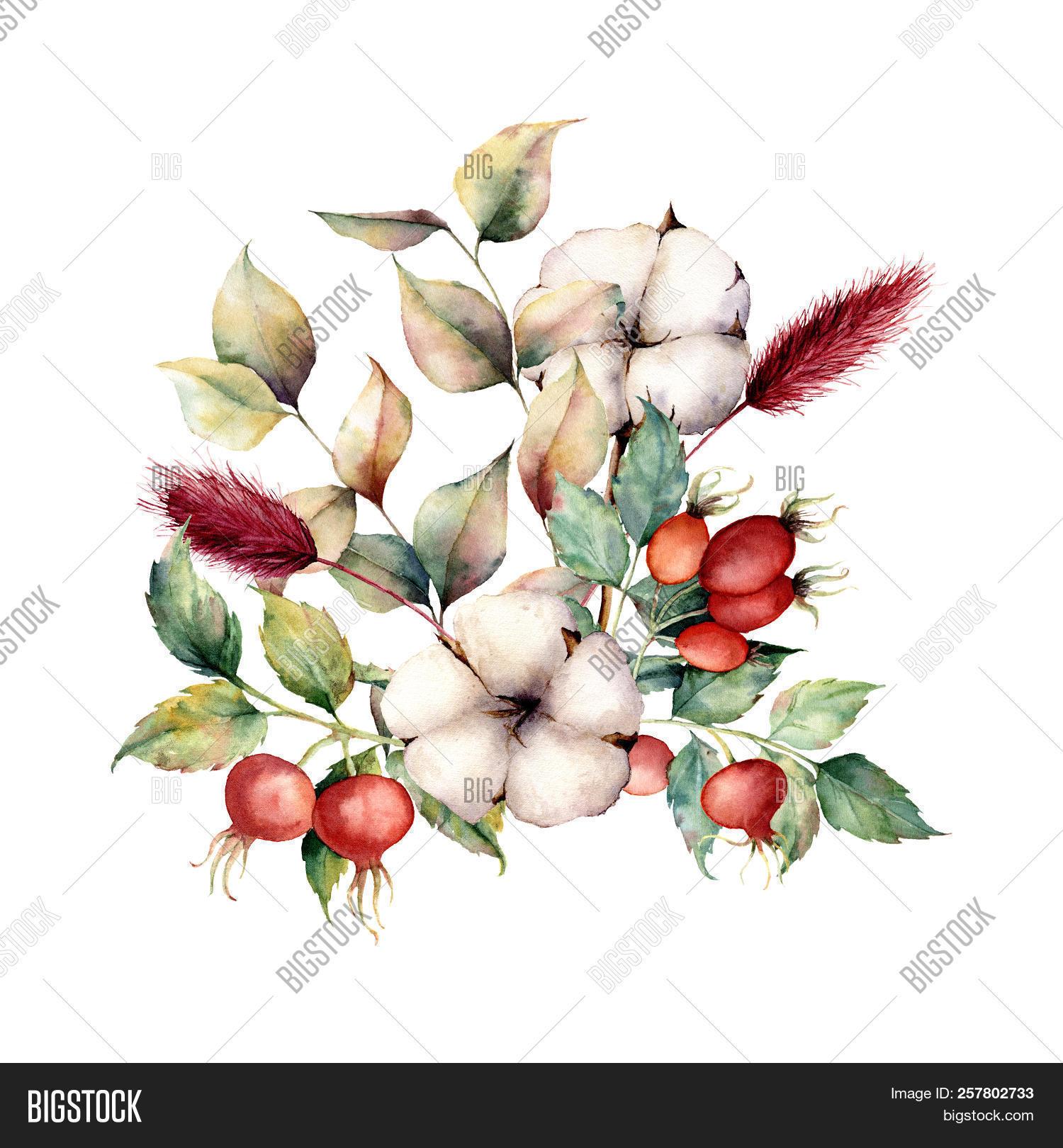 Watercolor Autumn Image Photo Free Trial Bigstock