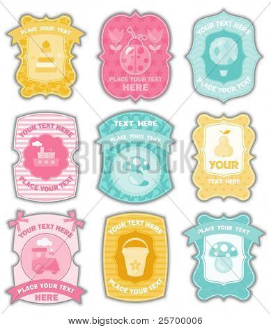 Baby labels with place for your text