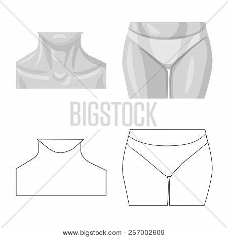 Isolated Object Of Human And Part Symbol. Set Of Human And Woman Stock Symbol For Web.