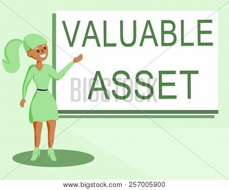 Text Sign Showing Valuable Asset. Conceptual Photo Your Most Valuable Asset Is Your Ability Or Capac