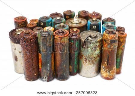 Old Battery Leak Isolated / Hazardous Waste Concept