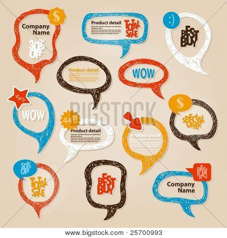 Handgezeichnete Sprechblasen Abbildung