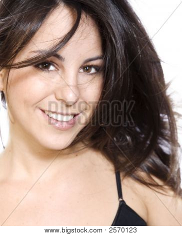 Beautiful Smile And Flowing Hair