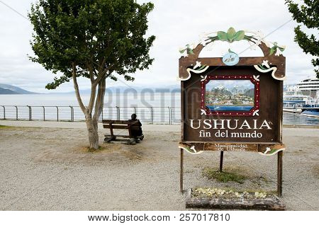 Ushuaia End Of The World City Sign (fin Del Mundo) - Argentina