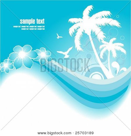 Blue Tropical Background