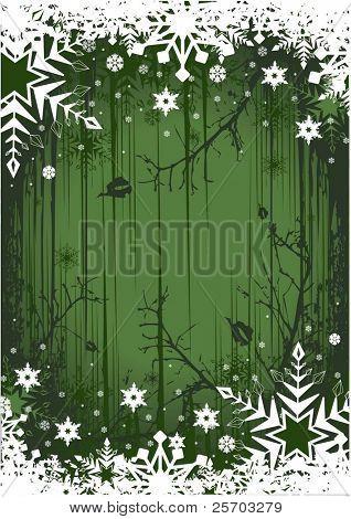 Green Grunge Winter Background
