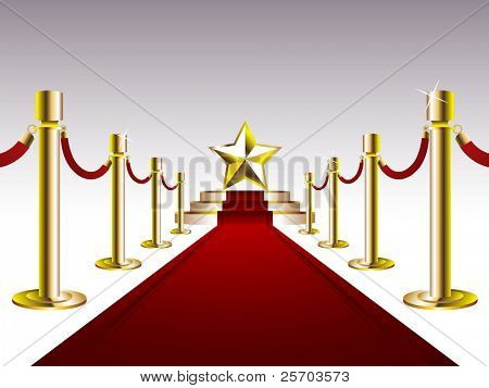 Red Carpet with Golden Star poster