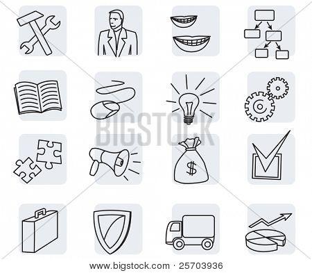 Vektor-Symbol Bereiche und Abteilungen des Unternehmens