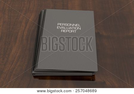 Bound Personnel Evaluation Booklet Pile