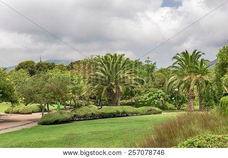 Beautiful Park With Vegetation In Torremolinos. Malaga. Spain.