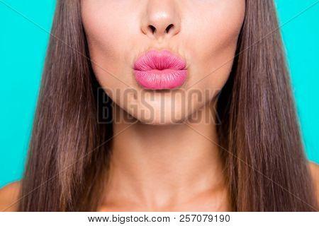 Come Closer I'll Kiss You Close Up Photo Portrait Of Cute Sensi