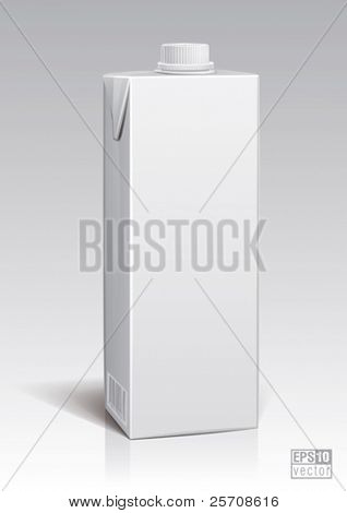 package one liter for new design, eps10 vector