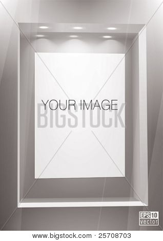 Advertising wall. You can change colors for the background, eps10 vector