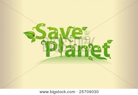 Word art - Save the Planet