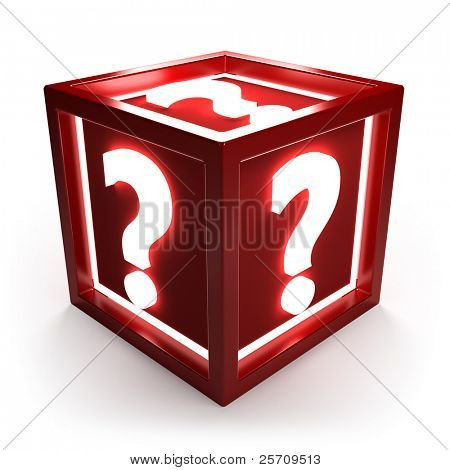 Question cube with clipping path