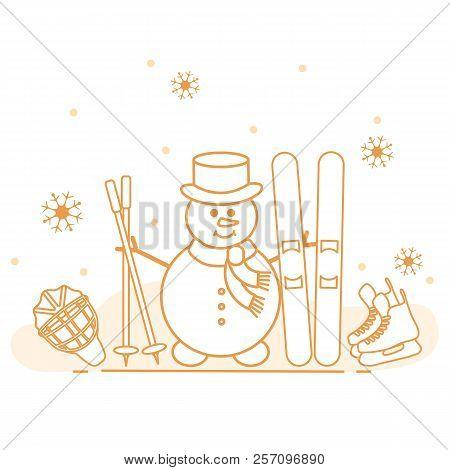 Enjoy Winter Outdoors Vector Photo Free Trial Bigstock