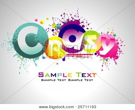 Crazy abstract colorful background.