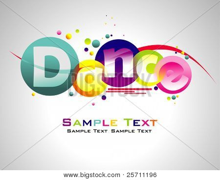 Dance abstract colorful background.