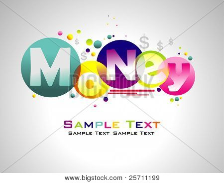 Money abstract colorful background.
