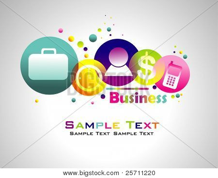 Business abstract colorful