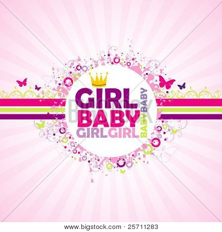 Baby Girl colorful background.