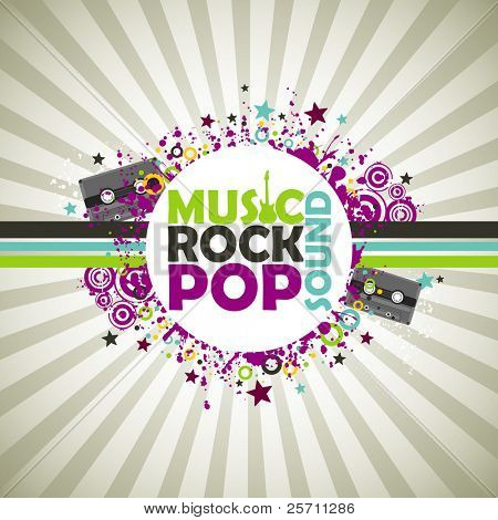 Music colorful background.