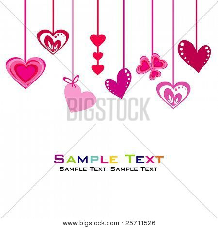 Hearts abstract background. Vector Illustration