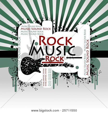 Rock Music colorful background. Vector illustration