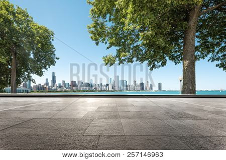empty ground with skyline in garden