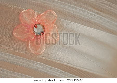Satin Ribbon and Delicate Flower