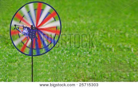 Spinning Patriotic Wind Whirligig