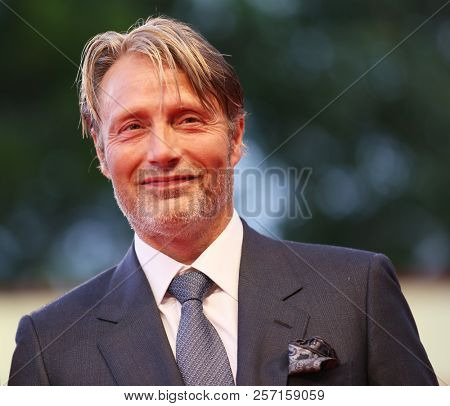 Mads Mikkelsen walks the red carpet ahead of the 'At Eternity's Gate' screening during the 75th Venice Film Festival at Sala Grande on September 3, 2018 in Venice, Italy.