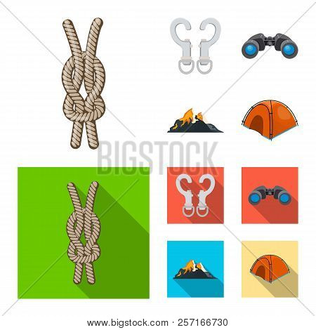 Isolated Object Of Alpinism And Peak Logo. Set Of Alpinism And Camp Stock Vector Illustration.