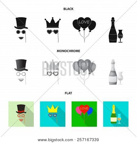 Vector Design Of Party And Birthday Symbol. Collection Of Party And Celebration Vector Icon For Stoc