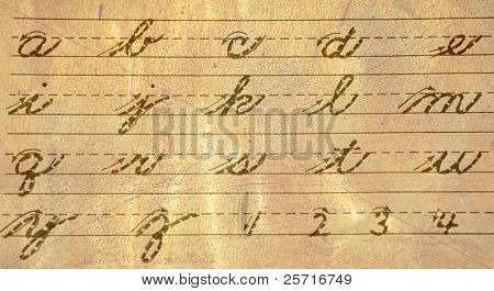 old cursive writing