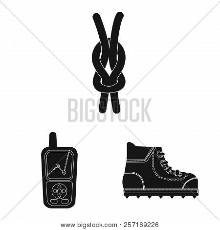 Vector Design Of Alpinism And Peak Logo. Set Of Alpinism And Camp Stock Symbol For Web.