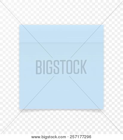 Sticky Paper Note With Shadow Effect. Blank Color Memo Note Stickers For Posting Isolated On Transpa