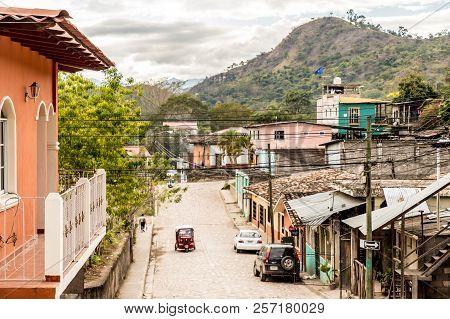 Copan Town, Copan, Honduras. February 2018. A Typical View In Copan Town In Honduras