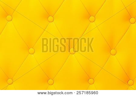 Elegant Saturated Glossy Yellow Leather Texture Of Sofa Chair