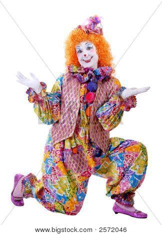 Kneeling Female Circus Clown