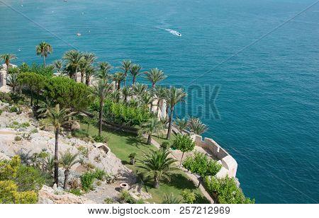 Beautiful Garden By The Sea In Peñiscola, Castellon. Spain.