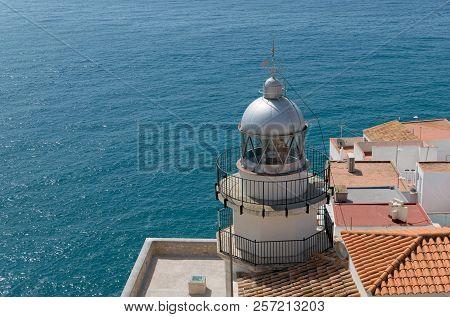 Lighthouse By The Sea. Peñiscola. Castellon. Spain.