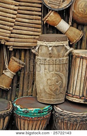 primitive instruments made from wood