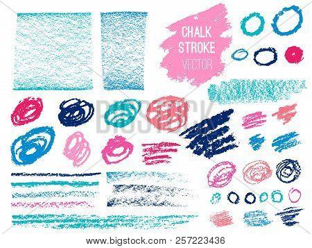 Set Stroke Spot Blod. Brush, Pen, Marker, Chalk. Vector Distressed Grunge Modern Textured Brush Stro