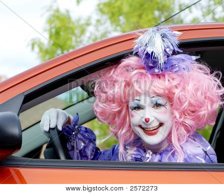 Circus Clown In Car