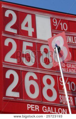 Precio cambio de signo de gas como costo oscila