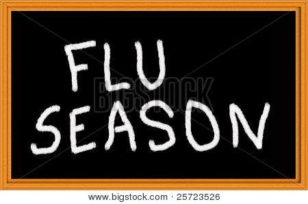 flu season on chalkboard