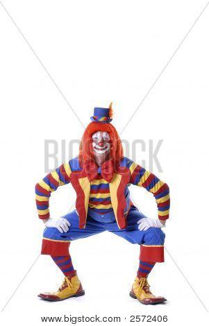 Squatting Circus Clown